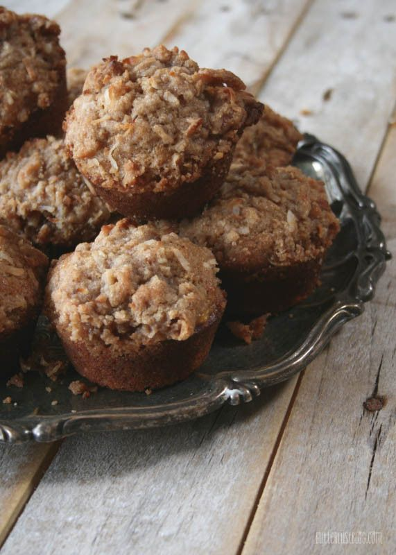 Whole Wheat Banana Nut Muffins with Coconut Struesel Topping ...