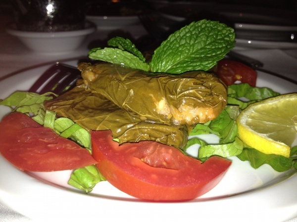 Sarma - grape leaves stuffed with rice and vegetables at Almayass, an ...