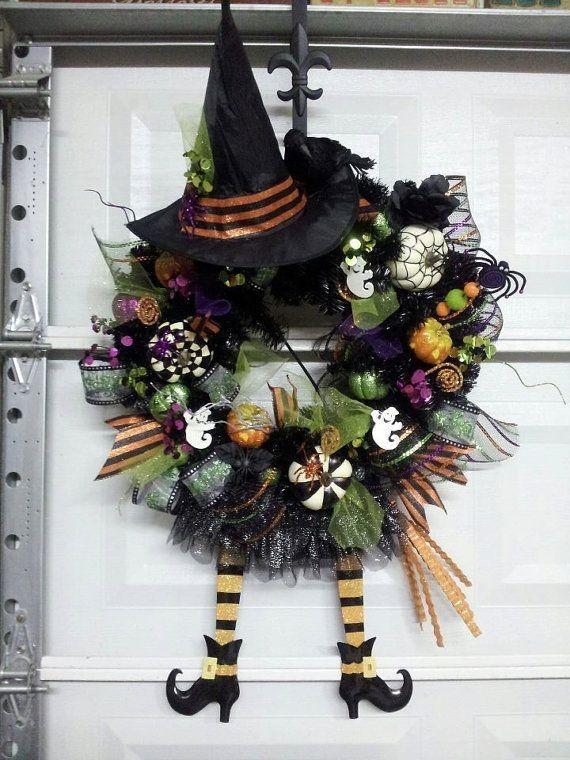Halloween door wreathHalloween  Pinterest ~ 174512_Halloween Door Wreath Ideas
