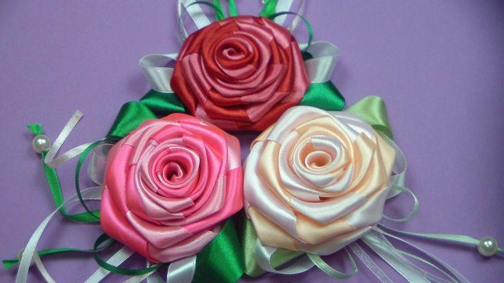 Как сделать цветы атласной ленты мастер класс