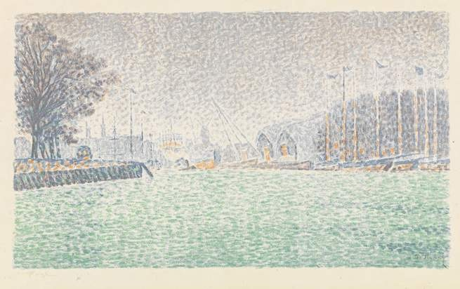 Paul Signac, At Flushing, Netherlands (À Flessingue, aux Pays-Bas)