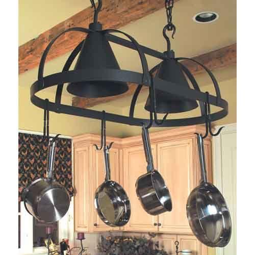 lighted pot rack stone county ironworks lighted pot racks pot rac. Black Bedroom Furniture Sets. Home Design Ideas