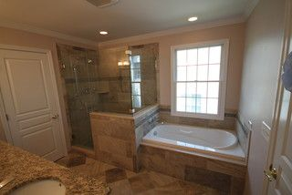 Tub faucet in half wall horsham master bath pinterest