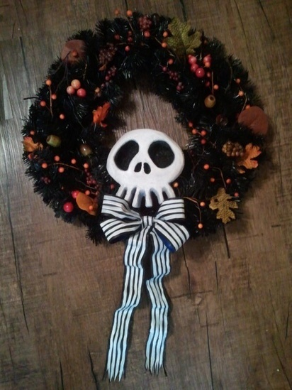 nightmare before christmas wreath | halloween - nightmare before chri ...