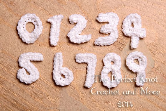 Crocheting Numbers : PDF Crochet Pattern Numbers Appliques by PerfectKnotCrochet, $3.50