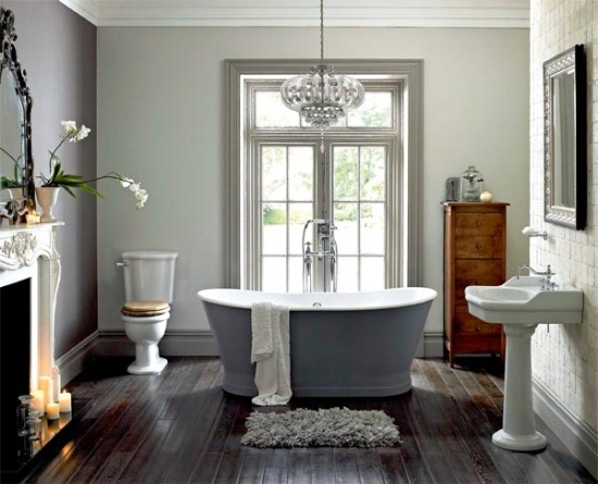 gray walls and dark wood floor dusty pinterest