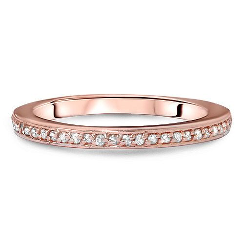 5ct diamond ring 14k rose gold womens wedding band by pompeii3 229
