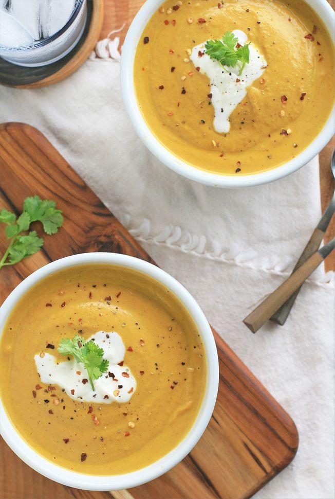 Vegan Curried Pumpkin Cream Soup | Vegan | Pinterest