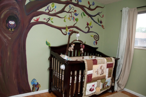 Neutral forest themed nursery things for the home for Woods themed nursery