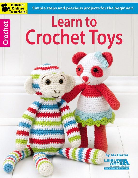 Crochet Amigurumi Pattern Book - Learn to Crochet Toys - Leisure Arts ...