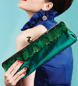 Peacock. #katespade #emerald #green #clutch