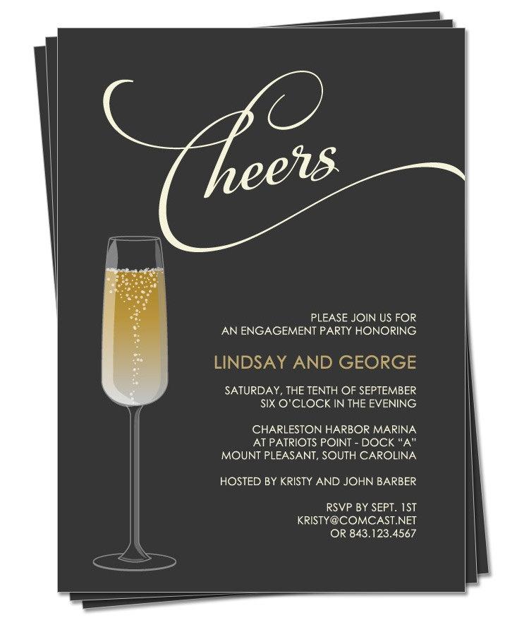 Champagne Party Invitation | Pretty Party Ideas | Pinterest