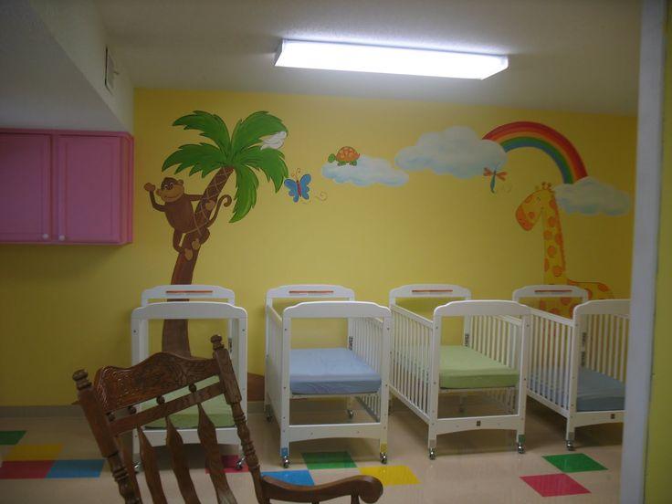 Pin by ronda clay on church nursery ideas pinterest for Church nursery mural ideas