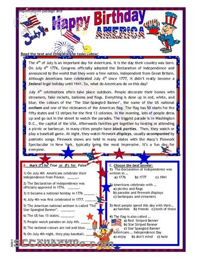 fourth of july school activities