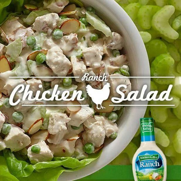 Ranch chicken salad | Yummers! | Pinterest
