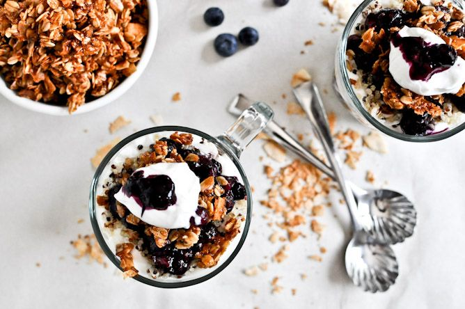 Roasted Blueberry Coconut Quinoa Parfaits with Coconut Granola | Reci ...