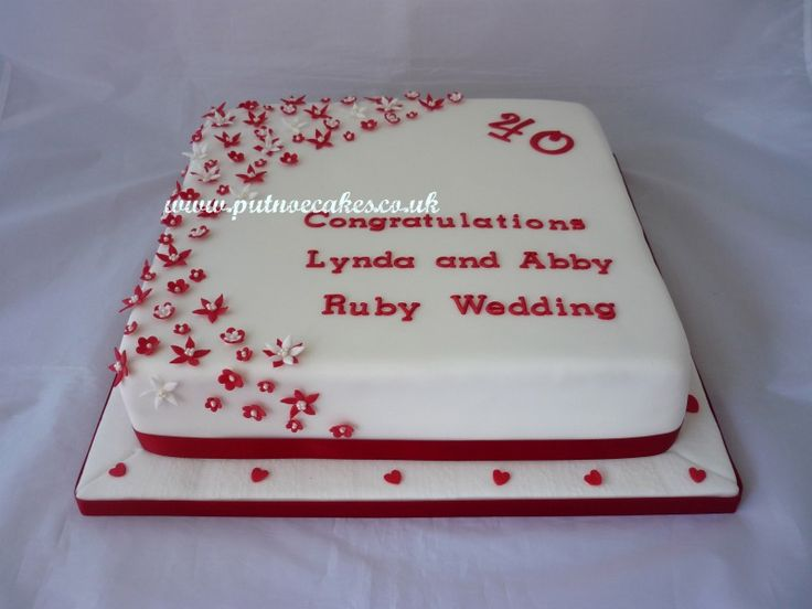 Cake Ideas For Ruby Wedding : Ruby Wedding Anniversary cake My creations Pinterest