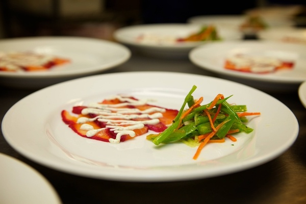 Citrus-beet cured salmon. | NC - Delicious Dishes from Local NC Resta ...