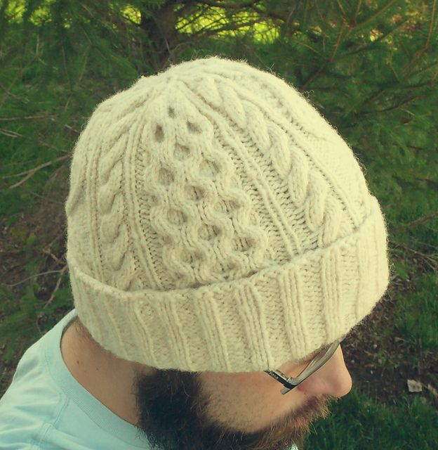 Knitting Pattern For An Aran Hat : Bulletproof Aran Hat pattern by Chuck Wright
