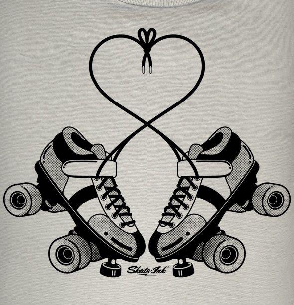 VINTAGE ROLLER SKATES ... Roller Derby Skate Drawing