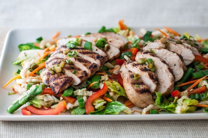 We love this Asian Chicken Salad for lunch and dinner. Packed with a ...