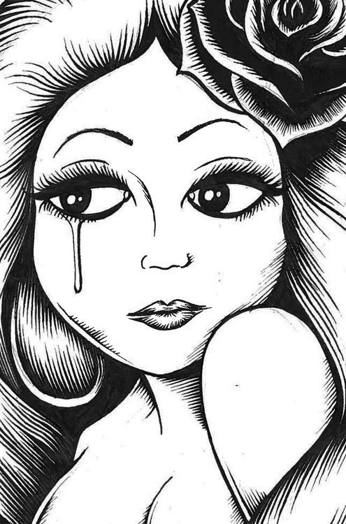 Chicano art | Chicano art | Pinterest Mexican Drawings Chola