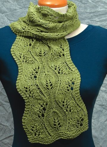 Leaf pattern scarf Knitting & Crochet Pinterest