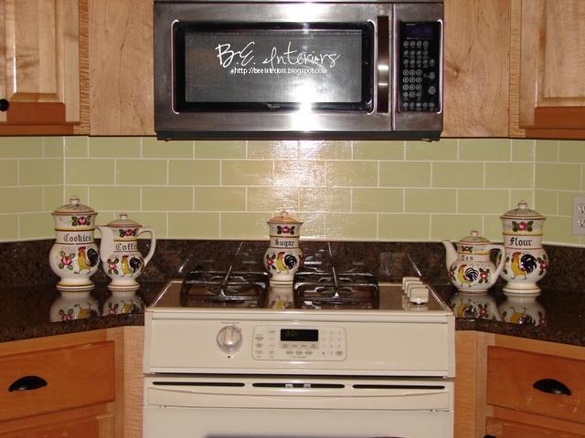 glass like backsplash on a budget kitchens Pinterest