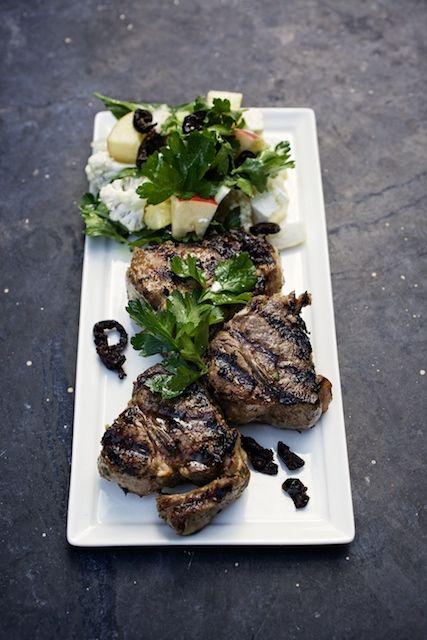 Lamb Chops with Winter Greek Salad | Yum! | Pinterest