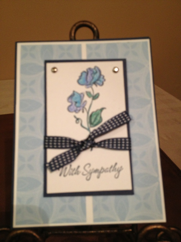Sympathy card joanne s stampin up cards pinterest