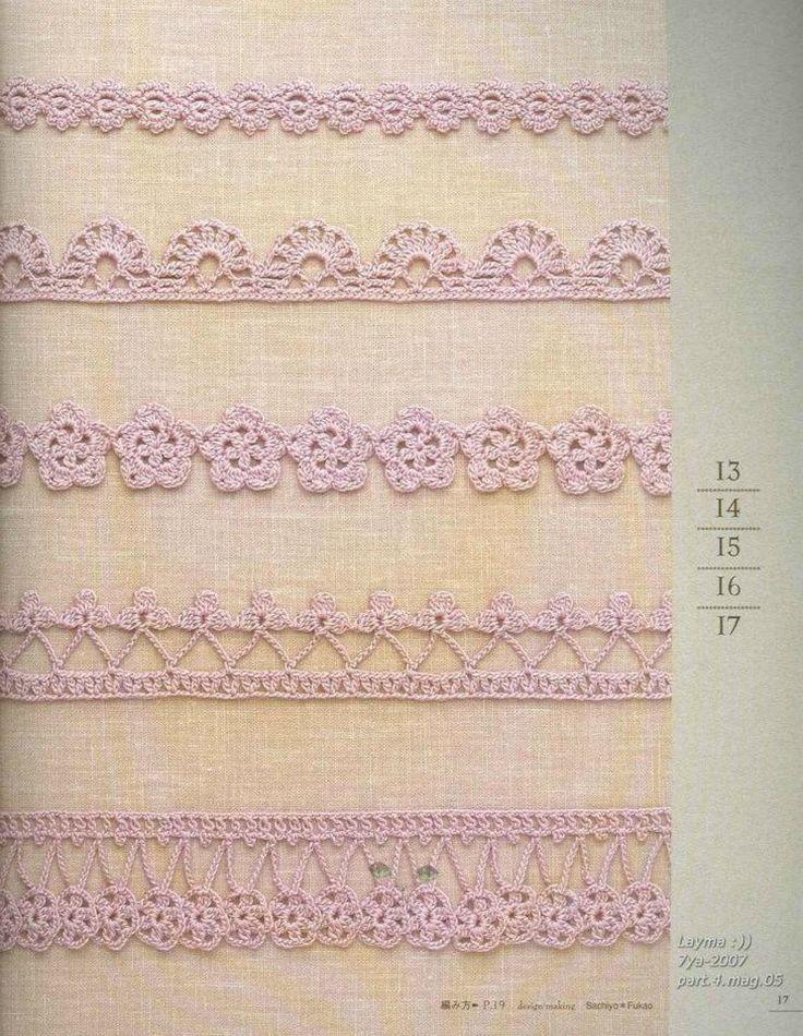 Simple Crochet Edging Patterns : Edging Crochet Chart Pattern Crochet: Thread Pinterest