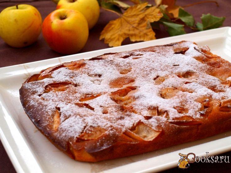 Пирог с яблоками на простокваше рецепт с фото пошагово в духовке