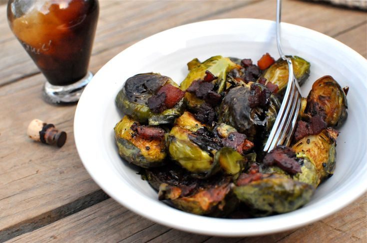 Roasted Bacon Balsamic Brussels Sprouts | Salad & Veggies | Pinterest