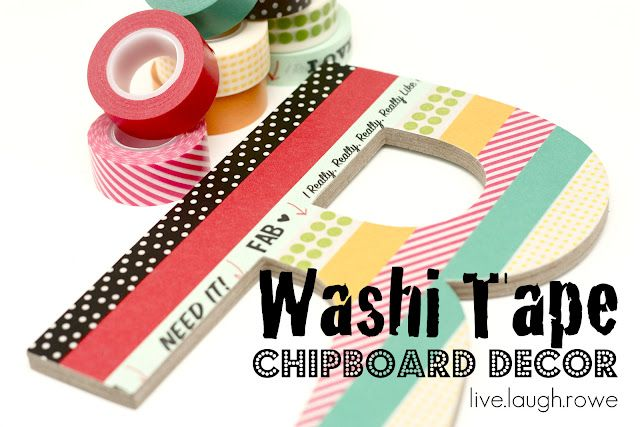 fun for my daughter's room! DIY washi tape decor!