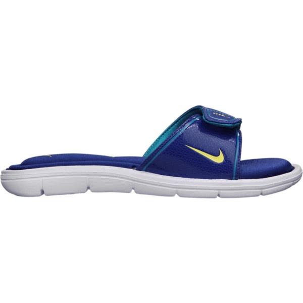 Popular Nike Comfort Slides In Blue For Men Bluemetallic Grey  Lyst
