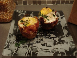 Bacon-Wrapped Eggs with Polenta | Bacon lovers | Pinterest