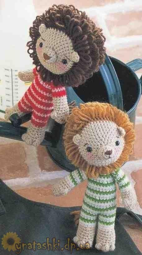 How To Crochet A Lion : Crochet Lion Amigurumi Pinterest