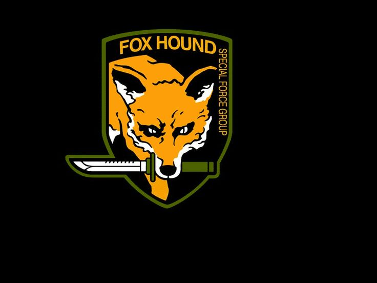 foxhound metal gear solid logo type pinterest