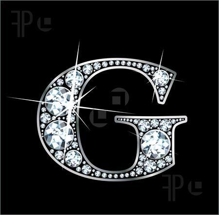 U Alphabet In Diamond Illustration of Diamond Letter