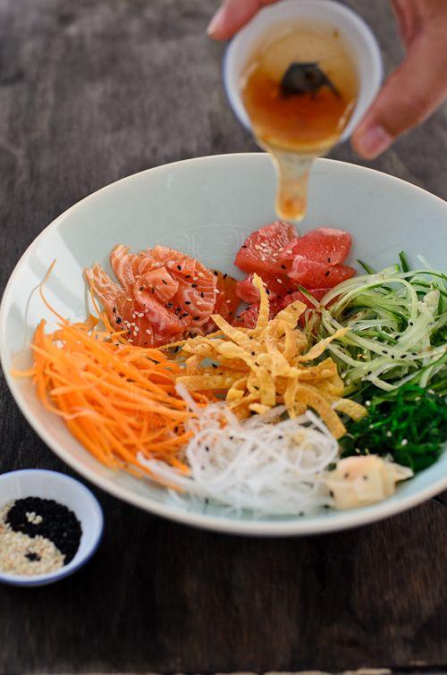 From My Lemony Kitchen ....: Yee Sang / Raw Fish salad
