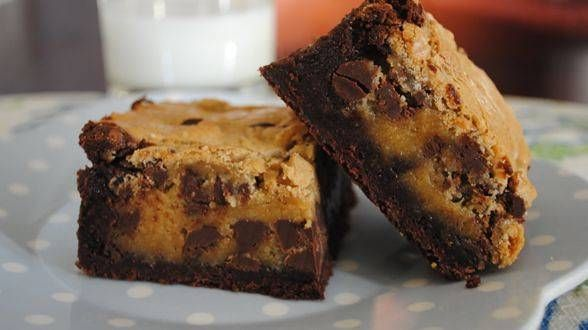 Blondie-Topped Brownies - a perfect marriage of fudgy brownies and ...