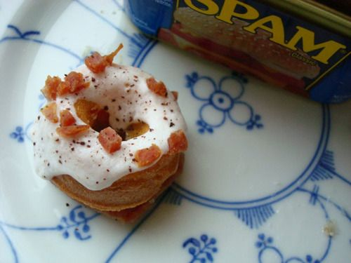 Mini Maple Spam Doughnuts!! HAHAHA I will not be making these for the ...