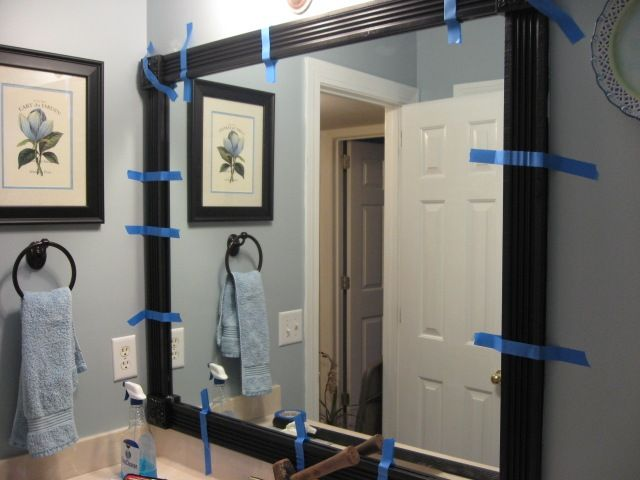 Framing Your Bathroom Mirror