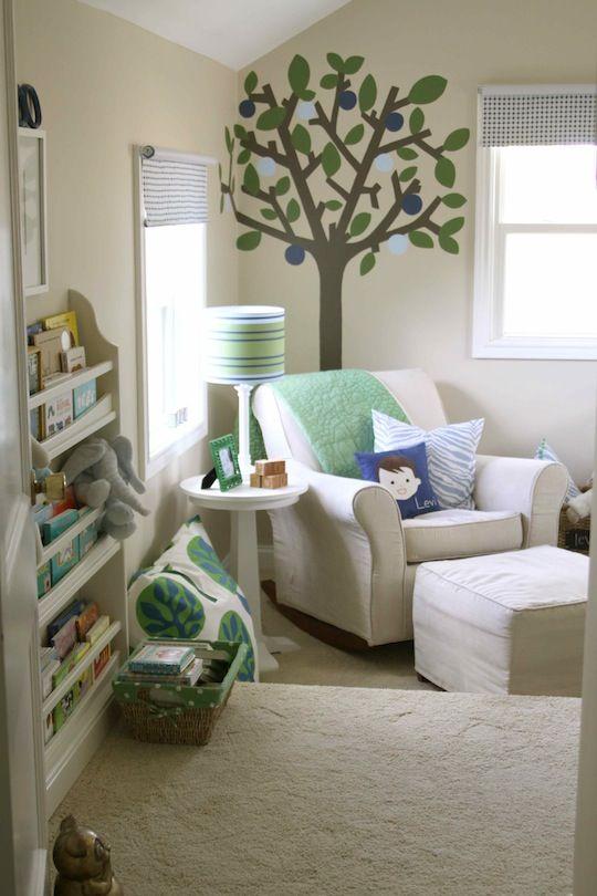 Especially love that bookshelf!