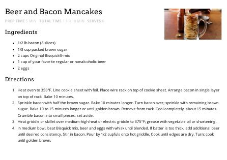 Beer and Bacon Mancakes | Food - Breakfast Dishes | Pinterest