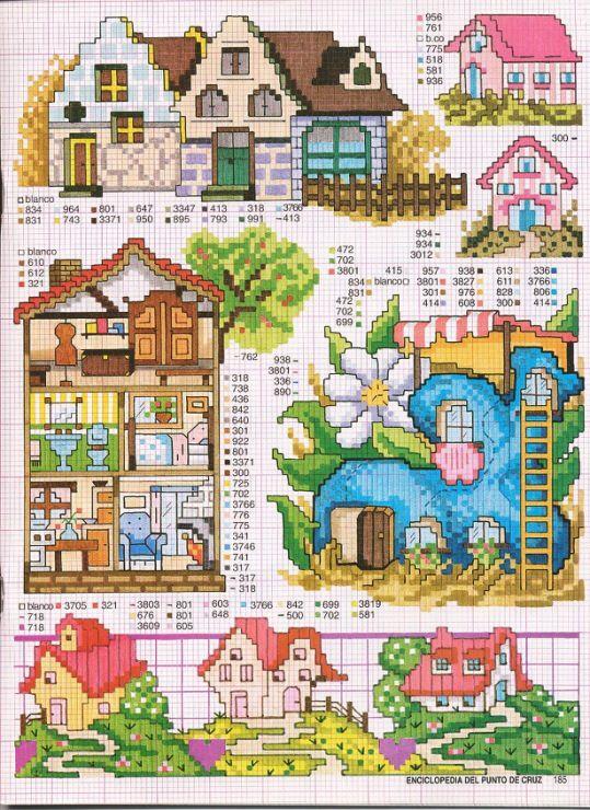 Английский домик схема вышивки 19