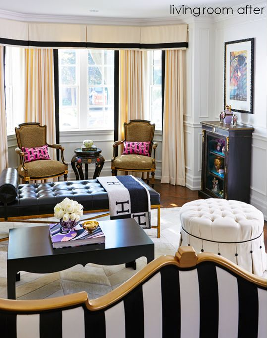 Madeline Weinrib Pink Antoinette Ikat Pillows in home of Style at Home editor Jessica Waks