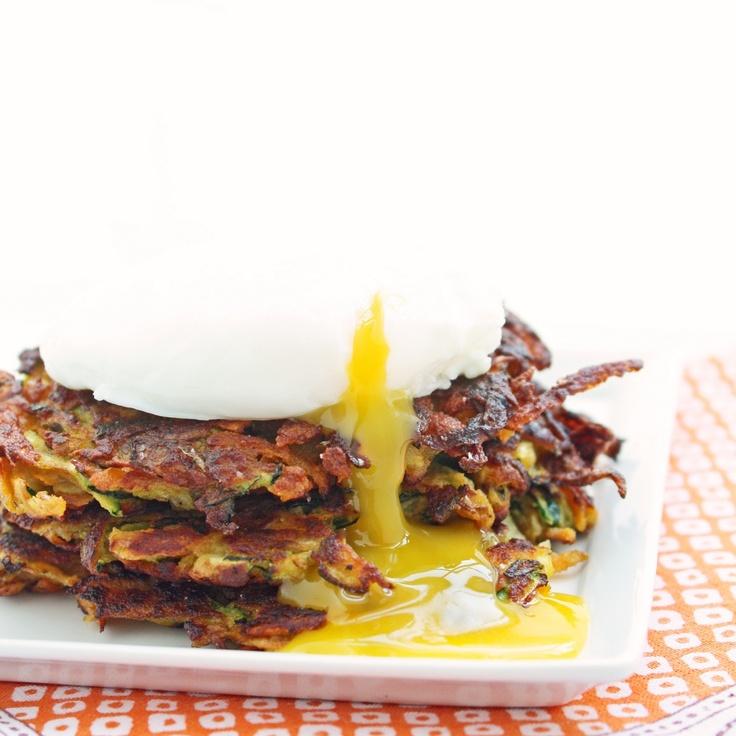 Zucchini & Sweet Potato Latkes - gluten free and 6.25g net carbs