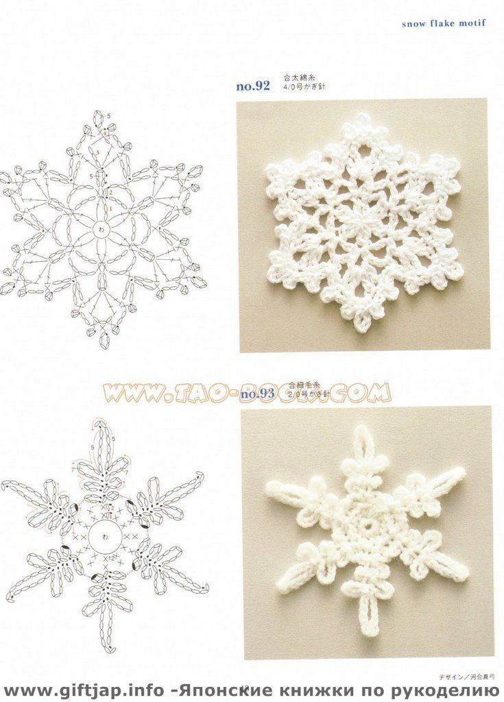 Crochet Snowflake : Snowflake patterns Crochet diagrams 3 Pinterest