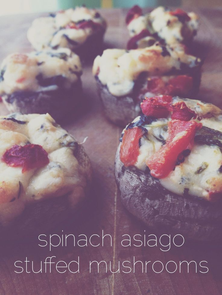Spinach Asiago Stuffed Mushrooms | Main Courses | Pinterest